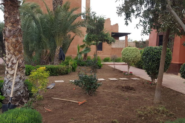 Redevelopment of a villa garden in Marrakech